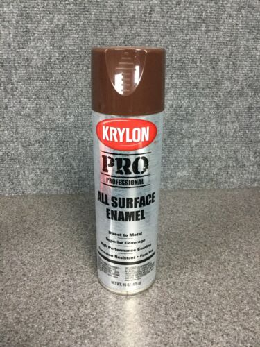 Krylon Pro Professional All Surface Enamel Spray Paint Brown 59207 F2C