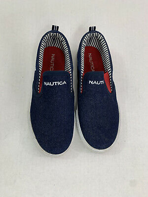 Nautica Youth Boys Size 1 Slip On Shoes