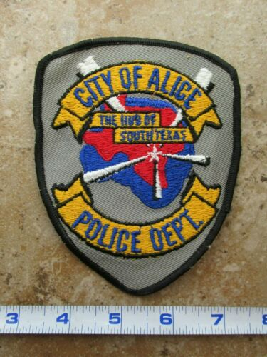 OBSOLETE Vintage State of Texas City of Alice Police Department Shoulder Patch