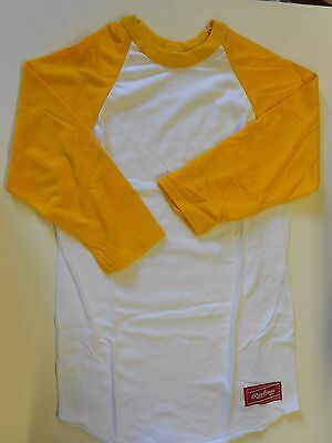 (NOS Vtg '80's Rawlings Baseball Undershirt Jersey Size Small USA 32