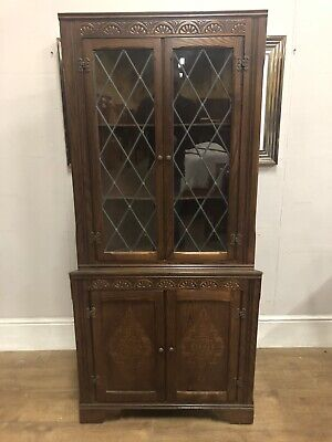 Very clean solid piece Old charm style corner display cabinet