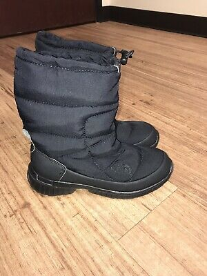 The North Face Womens Size 5 Black Quilted Winter Snow Boots (North Face Snow Boots)