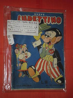 NUOVO LUPETTINO N° 2 DEL 1950-COMICO-COMPLETO GIOCO CENTRALE-PEGASO ROMA -RARO