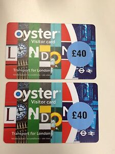 Two £40 Oyster cards