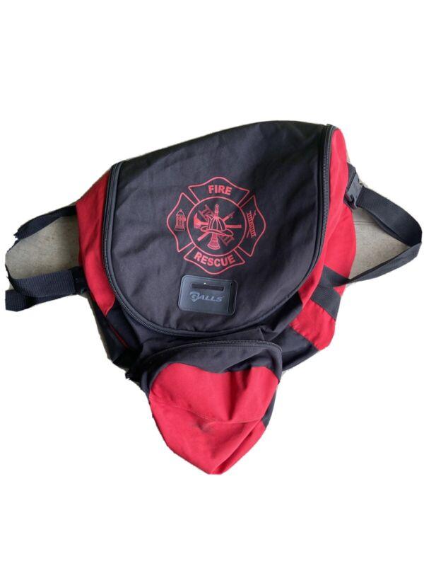 Firefighter Turnout Gear Carry Storage Bag Red Shoulder Strap **Make Offer**
