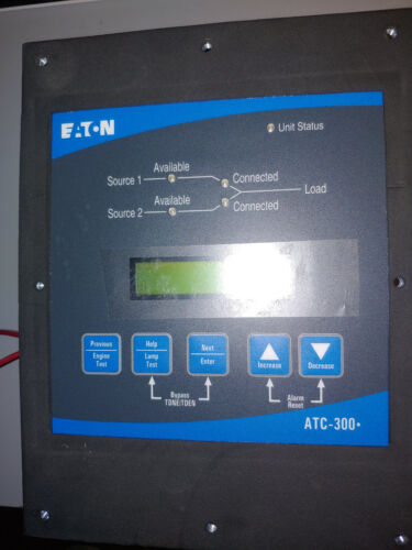 Eaton ATC-300+ Controller ATS  Automatic Transfer Switch