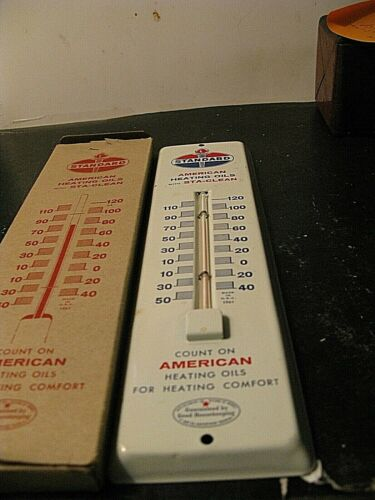 NOS In The Box Standard Oil Advertising Sign Thermometer