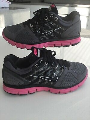 Womens Nike Lunarglide 2 Flywire Running Trainers Black Grey Pink Uk6/40