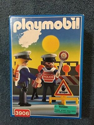 PLAYMOBIL 3906 Police Road Stop - New in Box RETIRED