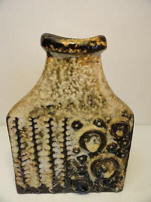 Vintage Carstens West Germany Mooncrater Fat Lava Vase 7803-25 Brutalist ZT3-3