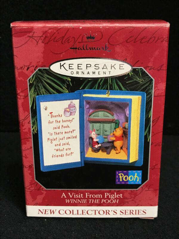 Hallmark Keepsake Christmas Ornament Winnie The Pooh A Visit From Piglet