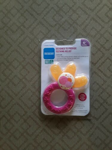 MAM Cooler Teether PINK New/Ages: 4 Months + BRAND NEW FACTO