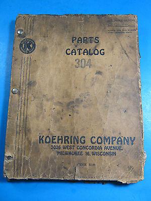 Koehring 304 -1a Excavator Crawler Parts Manual 1947