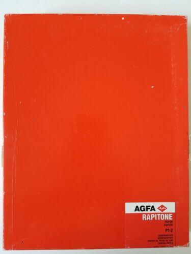 "Agfa Rapitone P1-2 photographic paper. 8"" x 10"" 100 sheets."