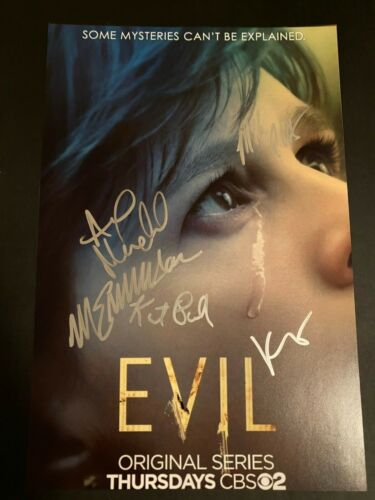 MIKE COLTER SIGNED EVIL PHOTO 12X18 KATJA HERBERS AUTOGRAPH MICHAEL EMERSON