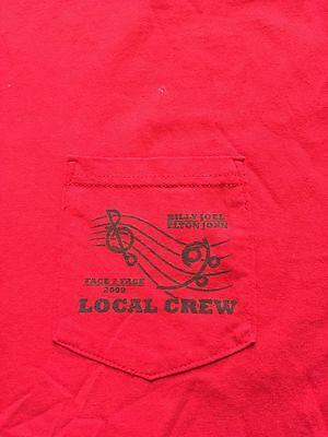 BILLY JOEL / ELTON JOHN 2009 Face To Face TOUR - Local Crew T Shirt - XXL - RED
