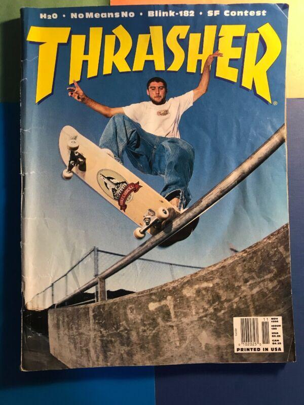 THRASHER magazine 1996 November SKATEBOARDING/SKATEBOARD