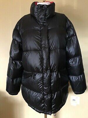 NEW Michael Kors Black Red Light Weight Down Puffer Coat Jacket M NWT $190