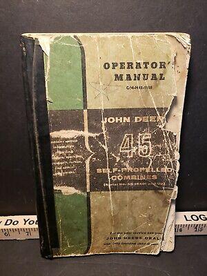 Vintage John Deere 45 Series Self Propelled Combine Operators Manual