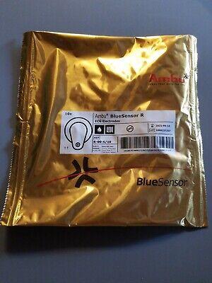 1ambu R-00-s10 Blue Sensor R Ecg Electrodes 10 New - 04-202