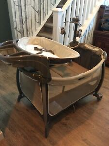 Eddie Bauer Portable Crib, bassinet, change station, mobile