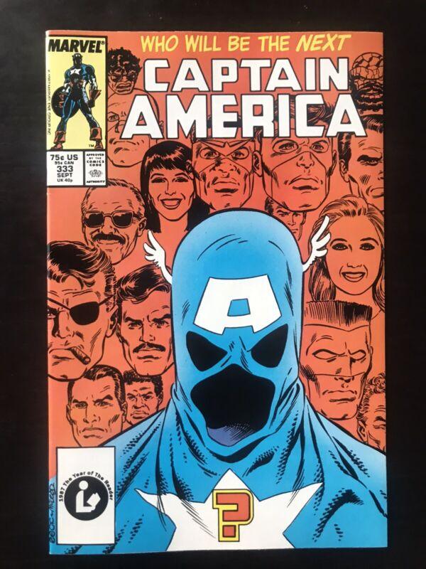 CAPTAIN AMERICA #333! NM W Pages 1st John Walker Cap Marvel 1987