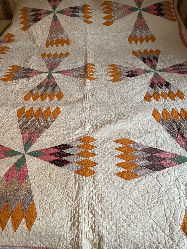 Vintage Diamond Patchwork Quilt