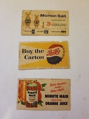 Vintage Lionel Trains Billboard Advertising Cards Lot of 3 Double sided
