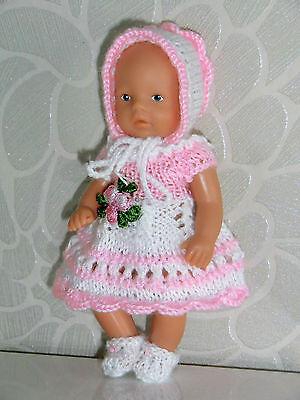 4-tlg Set Anzug Mütze Schuhe SE ,ARI ,EDI  Mini- Puppen 10 - 12 cm  Puppenstube