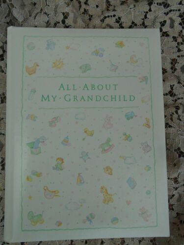 Vintage Grandchild Baby memory keepsake album Hallmark record book 1986 nice
