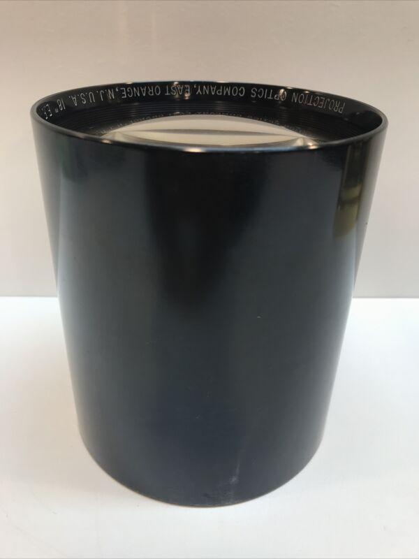 "Projection Optics Company East Orange New Jersey Telescope Lens 18"" E.F."