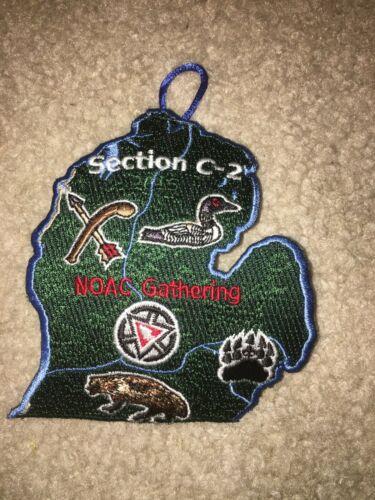 Boy Scout Section C2 2015 NOAC 3 Noquet 29 Kishahtek 88 Shape Michigan OA Patch