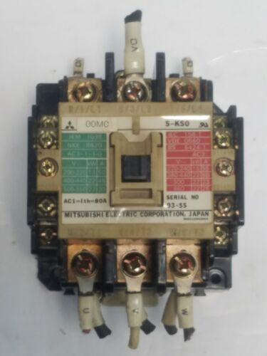 Mitsubishi Electric S-K50 Magnetic Contactor Starter 93-5S JEM 1038