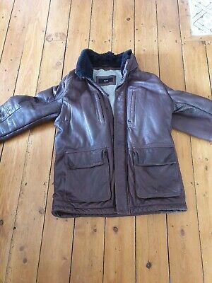 Hugo boss leather jacket xl