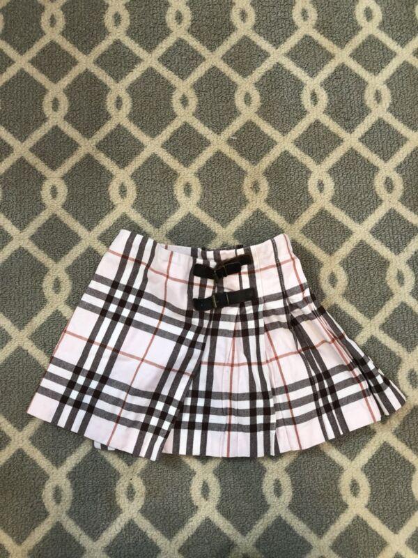 Burberry Baby Girl Skirt Sz 2 A Plaid Pink Check