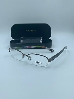 NEW Coach HC 5004 9027 Bettie Half Rimless Eyeglasses Frames Glasses Brown 53-16