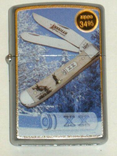 76319 XX Case Whitetail Trap American Sportsman NEW Windproof USA ZIPPO Lighter