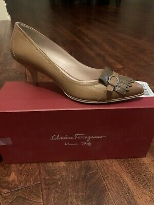 Womens salvatore ferragamo Heels/shoes 8.5 NWB Gannet 55 5cm
