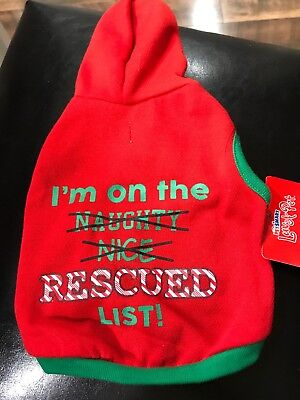 Pet Smart Luv-A-Pet Hoodie Size Small Rescued List
