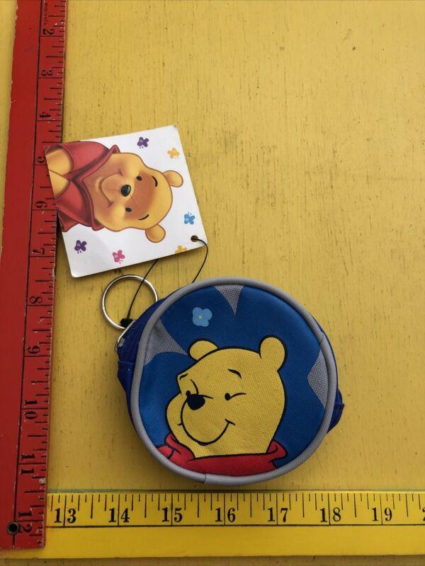 Disney Winnie the Pooh COIN PURSE grey blue  NWT New Adventures of Winnie ABC
