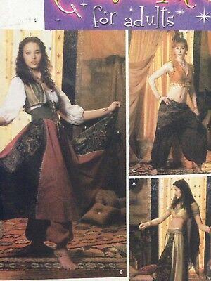 Simplicity 5359 Belly Dance Costume 14 16 18 20 Harem Girl Gypsy Arabian - Plus Size Harem Girl Costume