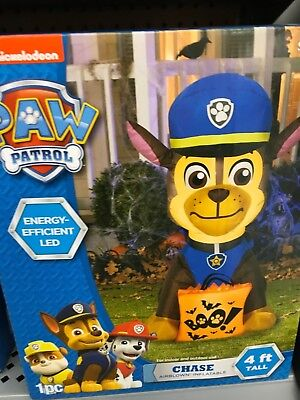 Halloween Airblown Inflatable Paw Patrol Chase with Boo Bag 4 ft Yard Decor](Paw Patrol Halloween Bag)