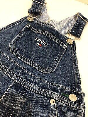 Tommy Hilfiger Denim Bib Overall Shorts Kids Toddler Size 4T Logo Bib