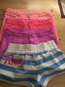 Girls shorts x 4 all size 12 incl Roxy brand Dingley Village Kingston Area Preview
