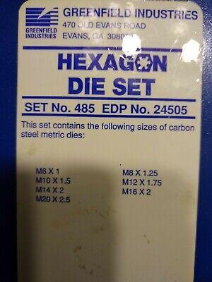 Greenfield Hexagon Retreading Die Set Tap Die Morse Die Set No. 485 Nos