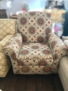 Artistic Graphic Fabric Recliner/ Chair/ Sofa