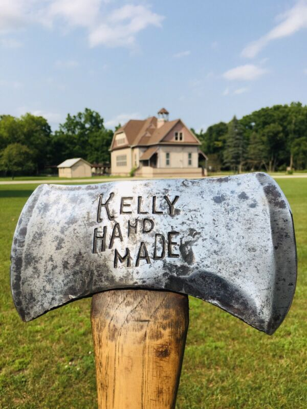 KELLY HAND MADE VINTAGE AXE WITH ORIG. HANDLE. Nice Original Piece XRARE 🪓