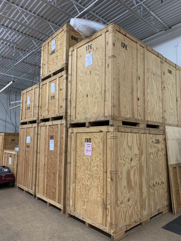 Large wood Storage Crate