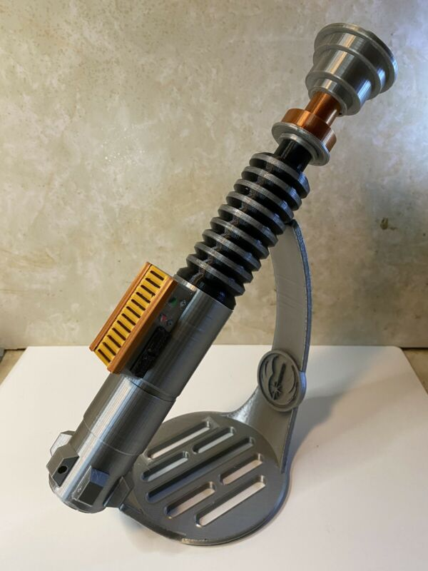 Luke Skywalker Lightsaber w/Stand- Prop Replica - Display Cosplay - 3D Printed