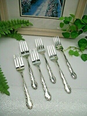 1 Dinner Fork Oneida Flirtation 1881 Rogers Scrolls Floral 1959 Silverplate